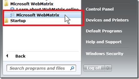 Запуск WebMatrix