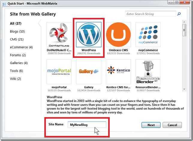 веб-приложение WordPress